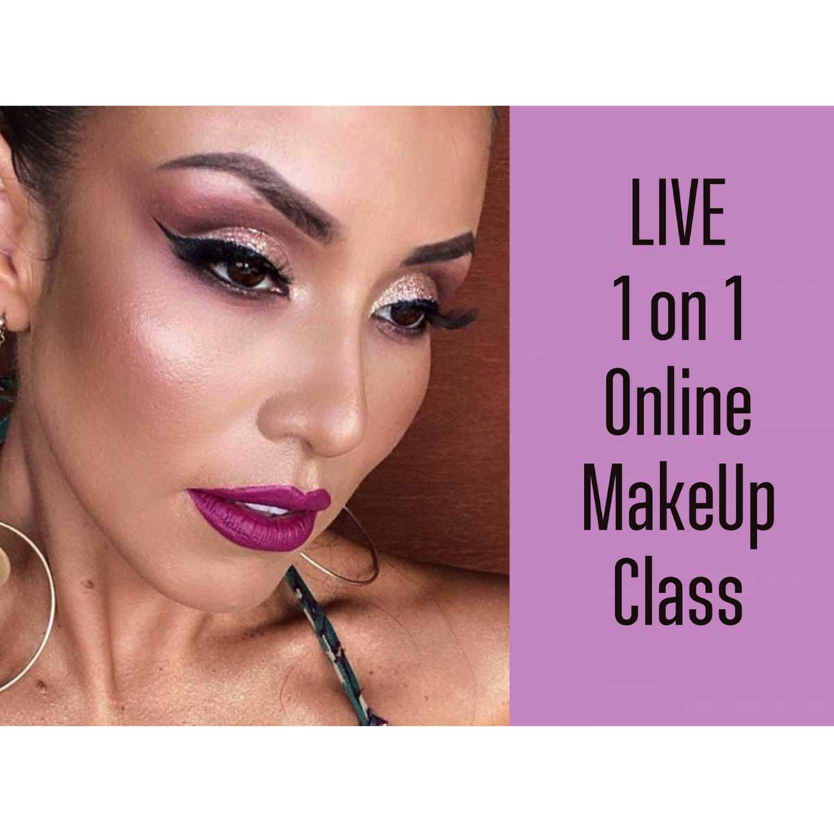 LIVE 1 On 1 Online MakeUp Lesson – One Hour
